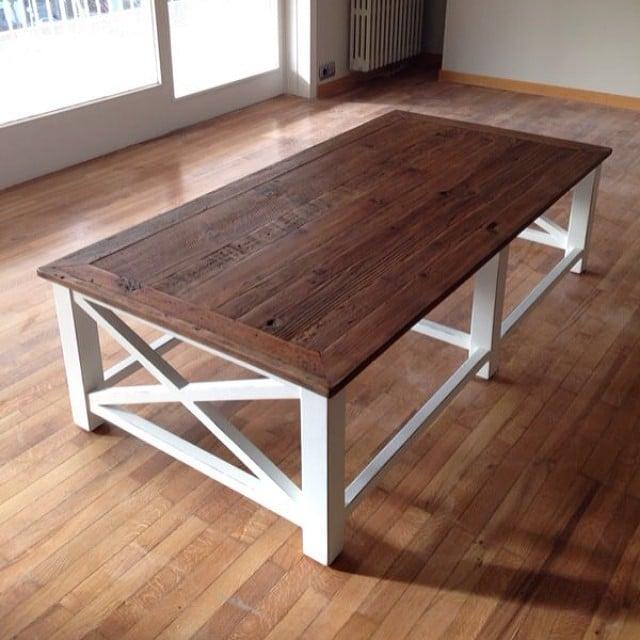 En el #proyectolescorts llegan los muebles a cuentagotas!  Ya tenemos la bonita mesa de centro de @_maisonsdumonde