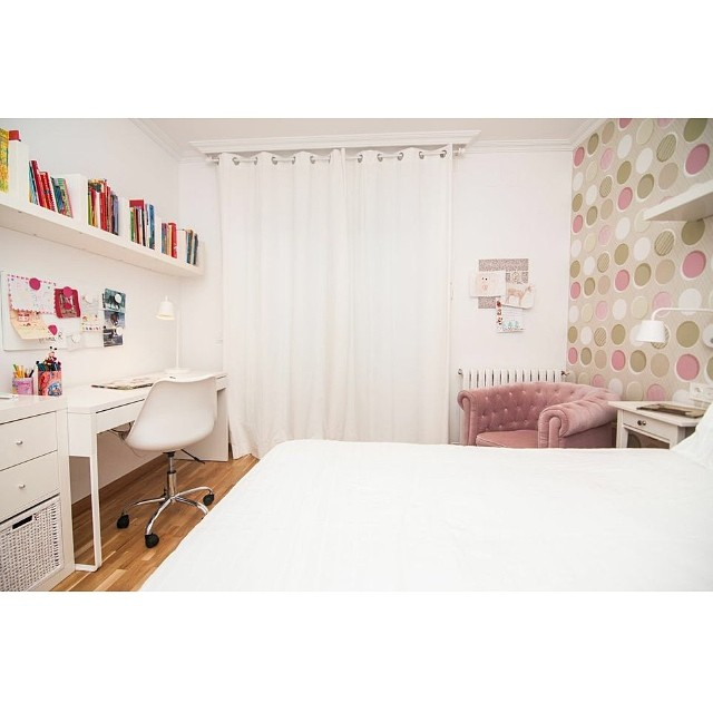 Otra vista del dormitorio juvenil en el #proyectoviladecans por @iloftyou