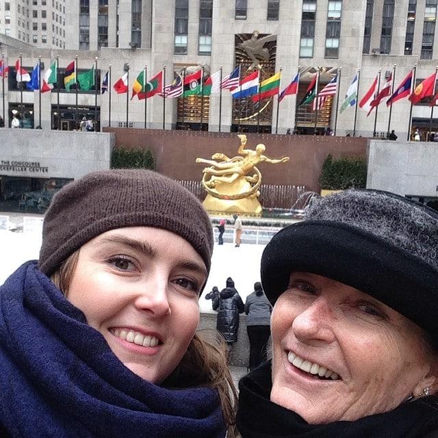 Hace un frío pelón! Pero que fantástica es esta ciudad! #nyc #deescapada #madrehija @verasalvat