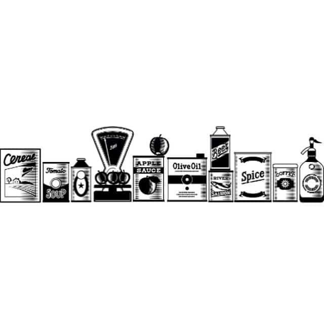 ¡Mirad qué vinilo vintage tan chulo hemos elegido para completar la cocina del #proyectolescorts! En breve lo colocamos