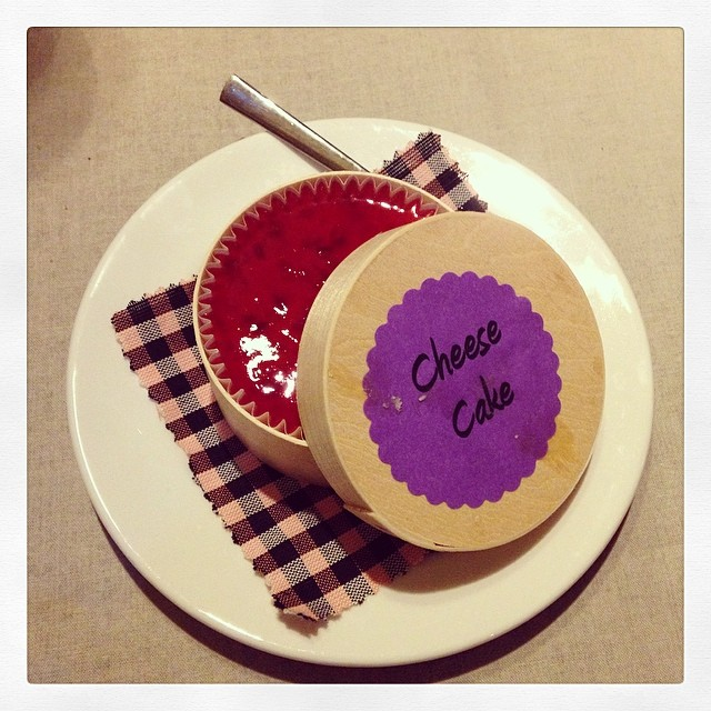 Hoy me he ganado.. Un cheesecake de postre! Qué día!