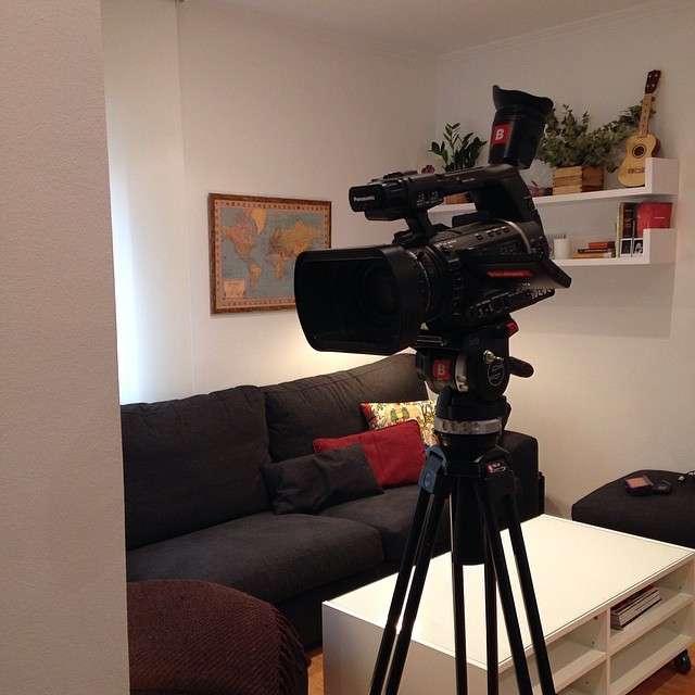 Finalizando la grabación para #Btv! ️ #devisita #connexiobarcelona