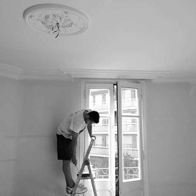 #Making of del #proyectoindustria. Parquet pulido y pintura casi lista. En breve entramos con el mobiliario.