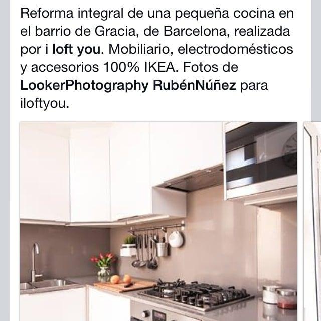 ¡Las fotos del resultado de la #cocinasantguillem ya estan en nuestra página web! www.iloftyou.es@iloftyou #ikea #kitchen #lowcost #interiordesign #interiorismo