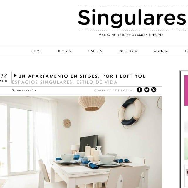 Acabamos de recibir la genial notícia de que desde @SingularesMag han publicado un artículo sobre nuestro #proyectoSitges!!