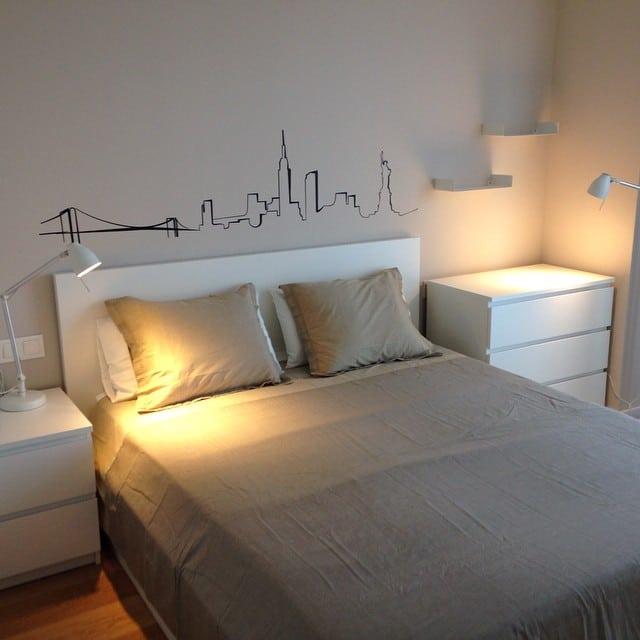 Dormitorio del #proyectoRocBoronat que montamos ayer  #ikea #ikealover #ikeaaddict #malm #tral #myvinilo #vinilo #lowcost #interiorismo #interiorista #interiordesign