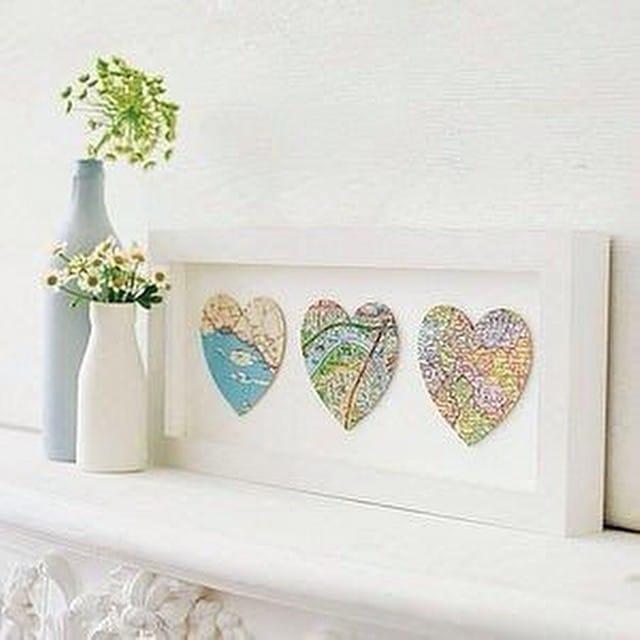¿Enamorados de alguna ciudad en especial? Utiliza el marco #ribba de #ikea para enmarcar una parte de ella en forma de corazón  #DIY